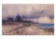 Arthur Merric Boyd - Gathering Seaweed Before the Storm Sandringham Beach