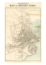 Jarman - Map of Hobart Town