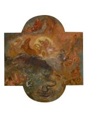 Eugne Delacroix - Apollo Slays Python