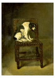Guillaume Anne van der Brugghen - A Dog on a Chair