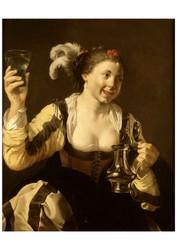 Hendrick Terbrugghen - A Girl Holding a Glass