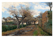 Axel Lindman - A Street in Frejus