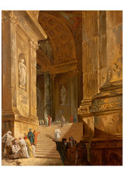 Johan Gottlob Brusell - A Temple Staircase Piece of Archtecture