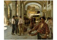 Oscar Bjorck - A Venetian Covered Market