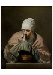 Caesar Boetius van Everdingen - A Young Woman Warning her Hands over a Brazier