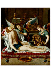 Alessandro Allori - The Body of Christ Anointed by two Angels