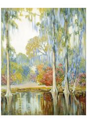 Alfred Hutty - Magnolia Gardens