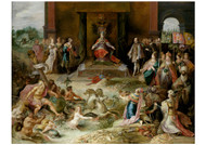 Frans Francken ii - Allegory on the Abdication of Emperor Charles V in Brussels