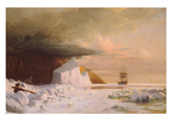 William Bradford - An Arctic Summer Boring through the Pack in Melville Bay