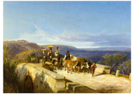 Andreas Marko - Tivoli Farmers Cross a Stone Bridge