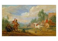 Frans van de Meulen - Cavalry Skirmish