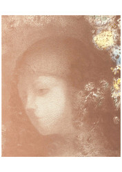 Odilon Redon - Childs Head with Flowers
