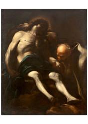 Giacinto Brandi - Christ Buried by Joseph of Arimathea
