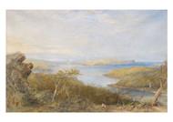 Conrad Martens - North Head from Above Balmoral Sydney Harbour