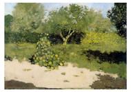 Richard Roland Holst - Corner of a Garden with Nasturtiums