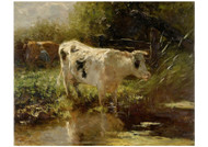 Willem Maris - Cow Beside a Ditch