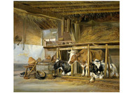 Jan van Ravenswaay - Cows in a Stable