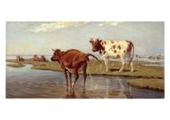 Theodor Philipsen - Cows on Saltholm
