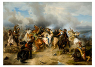 Carl Wahlbom - Death of King Gustav ii Adolf of Sweden at the Battle of Lutzen
