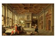 Dirck van Deelen - Distinguished Dinner Company in a Interior