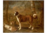 Govert Dircksz Camphuysen - Dog and a Birch Log