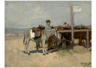 Anton Mauve - Donkey Stand on the Beach at Scheveningen