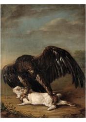 Johann Friedrich von Grooth - Eagle Catching a Hare