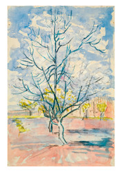 Blossoming Peach Trees by Vincent van Gogh
