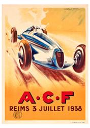 ACF 1938 Vintage Motoring Poster by Geo Ham