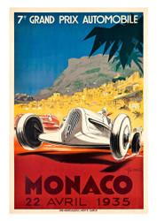 Monaco 1935 Vintage Motoring Poster by Geo Ham