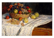 Apples and Grapes by Claude Monet Premium Giclee Print