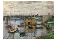 Bridge at Argenteuil on a Gray Day by Claude Monet Premium Giclee Print