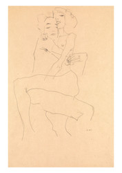 Couple Embracing by Egon Schiele