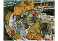 Crescent of Houses II (Island Town) by Egon Schiele