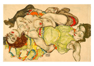 Female Lovers by Egon Schiele