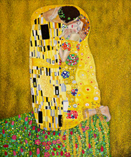The Kiss by Gustav Klimt Expressionist Art Print