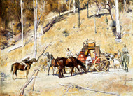 Bailed Up by Tom Roberts Art Print