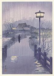 Evening Rain at the Shinobazu Pond