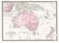 Carte Generale L Australie 1875