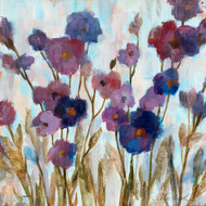 Abstracted Floral in Purple