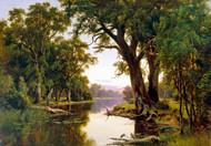 A Billabong of the Goulburn Victoria by HJ Johnstone