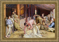 Shearing the Rams Gold Ornate Frame