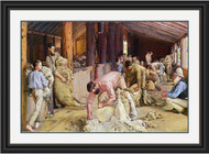 Shearing the Rams by Tom Roberts Black Gold Inlay Frame BGIWG
