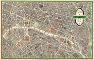 View of the Center of Paris 1959