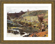 A Quiet Day on Darebin Creek Gold Frame