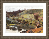 A Quiet Day on Darebin Creek Silver Frame