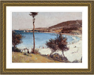 Holiday Sketch at Coogee by Tom Roberts Gold Frame