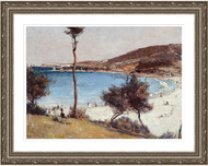 Holiday Sketch at Coogee Silver Frame