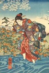 The Ide Tama River in the Province of Yamashiro by Utagawa Kuniyoshi