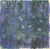 Blue Water Lilies by Claude Monet Premium Giclee Print